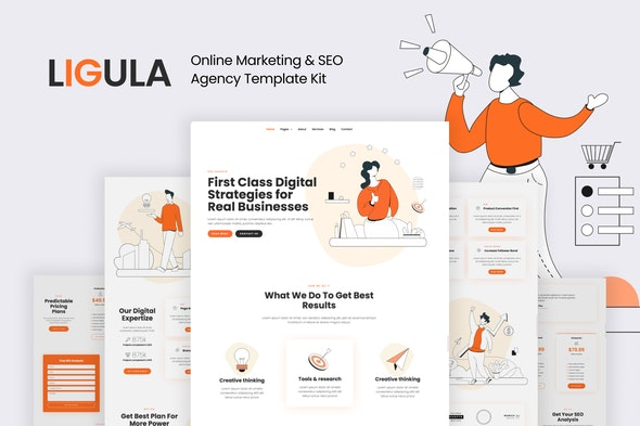 Ligula — Online Marketing & SEO agency Template Kit - Business & Services Elementor