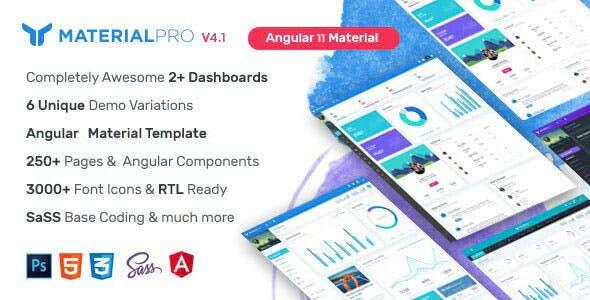 MaterialPro Angular 11 Admin Template