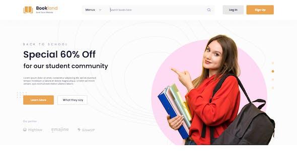 Bookland - Book Store Ecommerce Website Figma Template