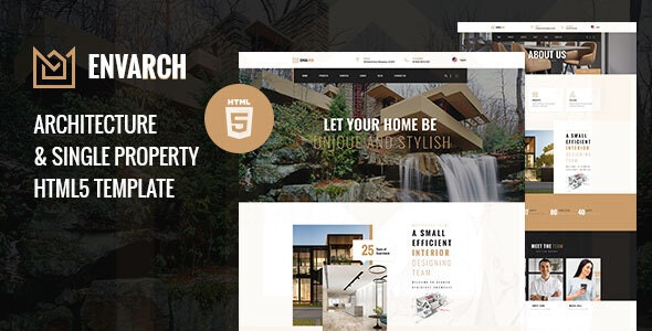 EnvArch - Architecture and Single Property HTML5 Template - Business Corporate