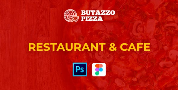 Buta Pizza - One page PSD