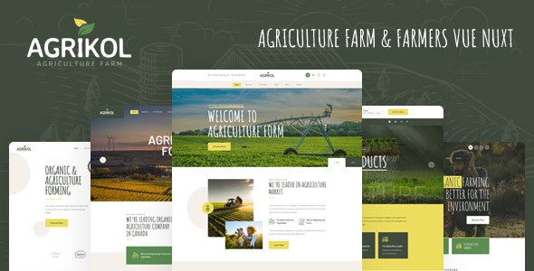 Agrikol - Vue Nuxt Template For Agriculture Farms - Food Retail