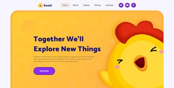 Kooki – Kindergarten Figma Template