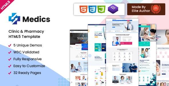 Medics – Clinic & Pharmacy HTML5 Template - Health & Beauty Retail