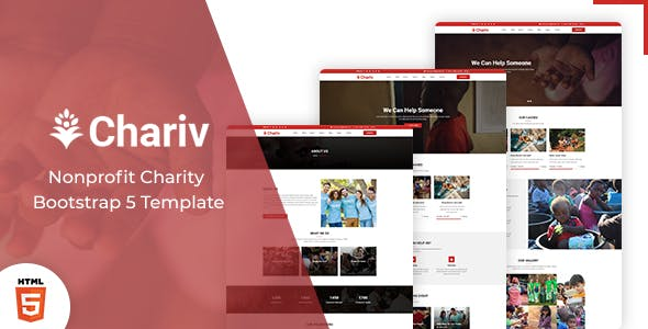 Chariv - Nonprofit Charity Bootstrap 5 Template