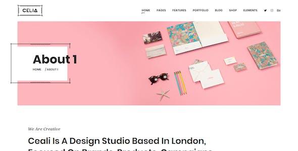 Celia - Innovative and Inspiring Portfolio Drupal 9 for Modern Agencies and Freelancers