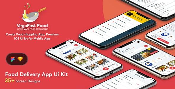 Vega - Food Delivery App UI - Restaurants & Cafes Entertainment
