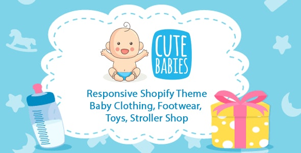 Cute Babies - Responsive Shopify theme for Baby Store - Shopify eCommerce