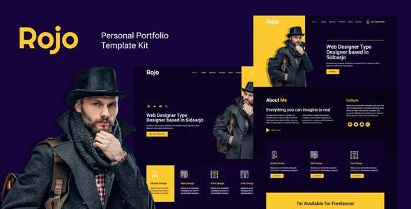 Rojo - Personal Portfolio Elementor Template Kit