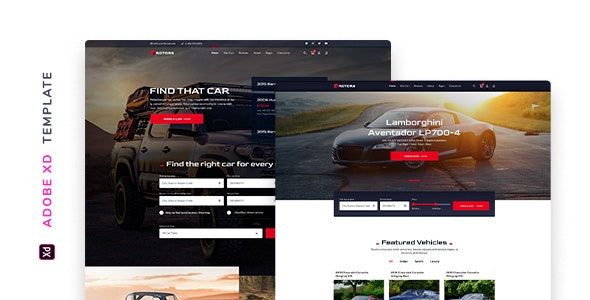 Rotors – Automotive Template for XD - Corporate Adobe XD