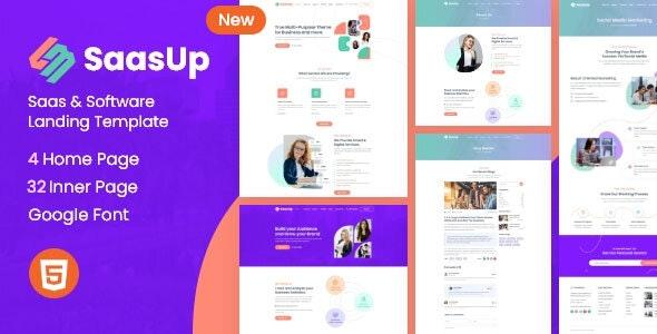 SaasUp - Saas & Startup Creative Template - Software Technology