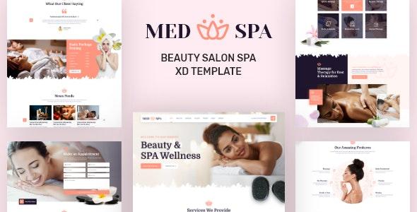 MedSpa - Beauty Salon Spa XD Template - Health & Beauty Retail
