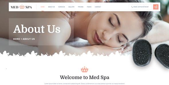 MedSpa - Beauty Salon Spa XD Template