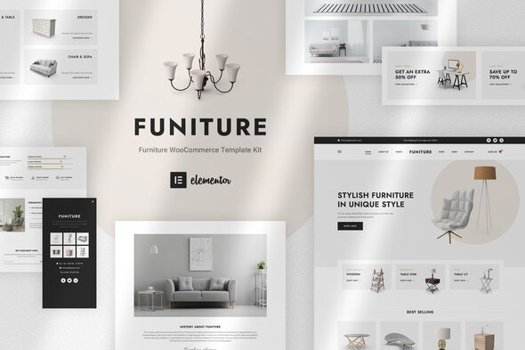 Funiture - Furniture Shop WooCommerce Elementor Template Kit - Shopping & eCommerce Elementor