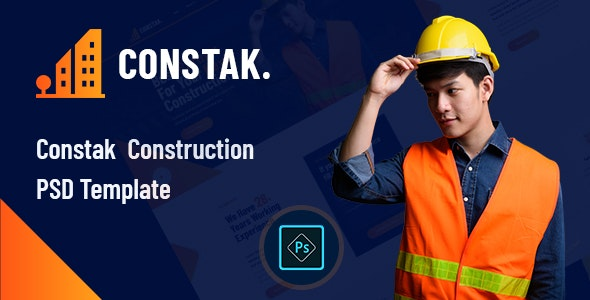 Constak – Construction PSD Template - Business Corporate