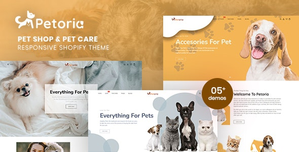 Petoria - Pet Shop & Pet Care Responsive Shopify Theme - Shopify eCommerce