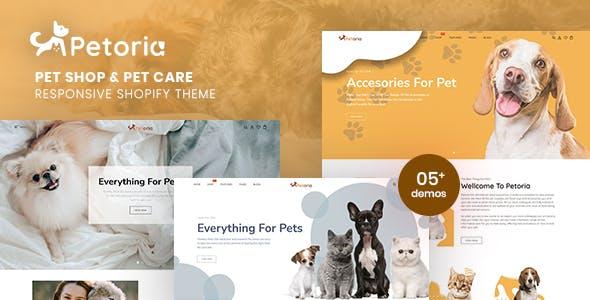 Petoria - Pet Shop & Pet Care Responsive Shopify Theme