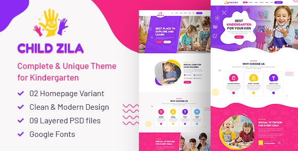 ChildZilla - PSD Template - Children Retail