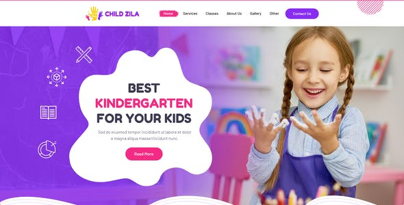ChildZilla - PSD Template