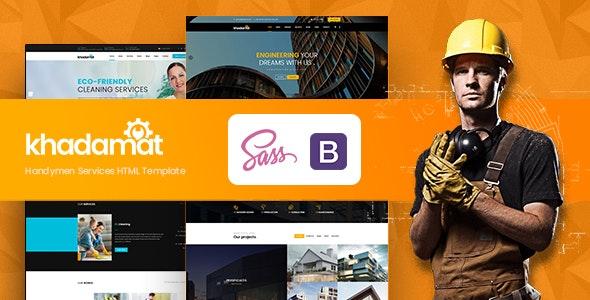 Khadamat - Handymen Services HTML Template - Business Corporate