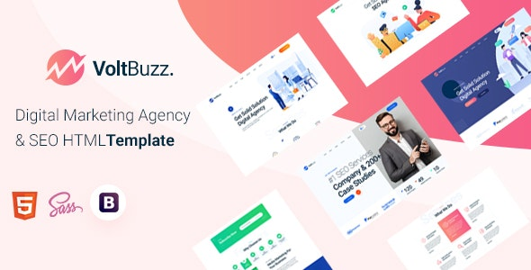 VoltBuzz - Digital Marketing Agency HTML Template - Marketing Corporate