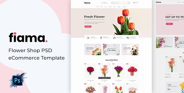 Fiama - Flower Shop PSD eCommerce Template