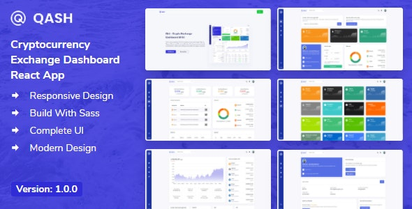 Qash - Cryptocurrency Exchange Dashboard React App + Dashboard - Admin Templates Site Templates