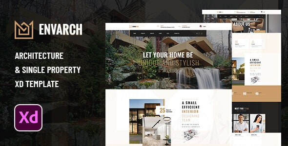 EnvArch - Architecture and Single Property XD Template - Business Corporate