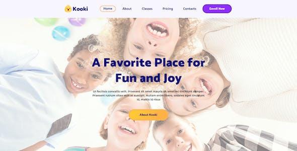 Kooki – Kindergarten Photoshop Template