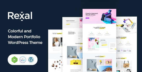 Rexal - A Colorful and Modern Multipurpose Portfolio WordPress Theme - Portfolio Creative