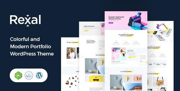 Rexal - A Colorful and Modern Multipurpose Portfolio WordPress Theme