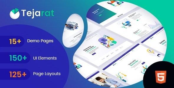 Tejarat - Multipurpose Business & Corporate HTML Template - Corporate Site Templates