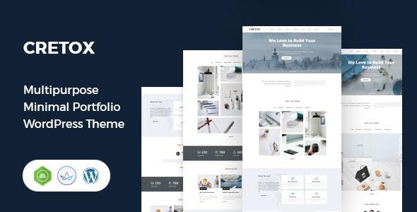 Cretox - Multipurpose Minimal Portfolio WordPress Theme - Portfolio Creative