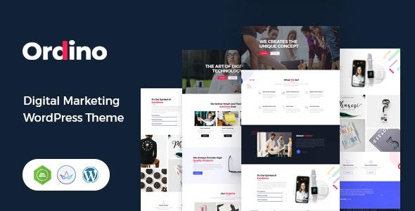 Ordino - Digital Marketing WordPress Theme - Portfolio Creative