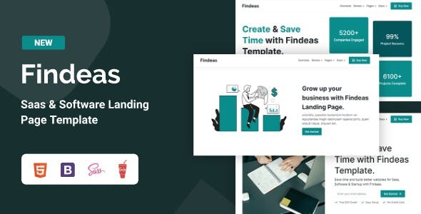 Findeas – Saas & Software Landing Page Template