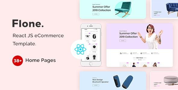 Flone - React JS eCommerce Template - Fashion Retail