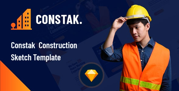 Constak – Construction Sketch Template - Business Corporate