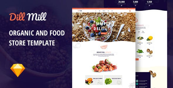 Dillmill - Organic and Food Store Sketch Template