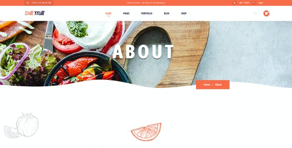 Dillmill - Organic and Food Store Figma Template
