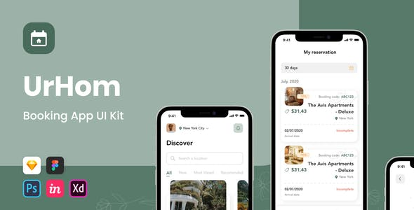 UrHom - Booking app UI Kit