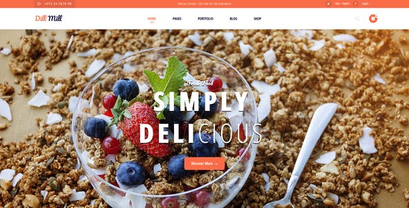 Dillmill - Organic and Food Store XD Template