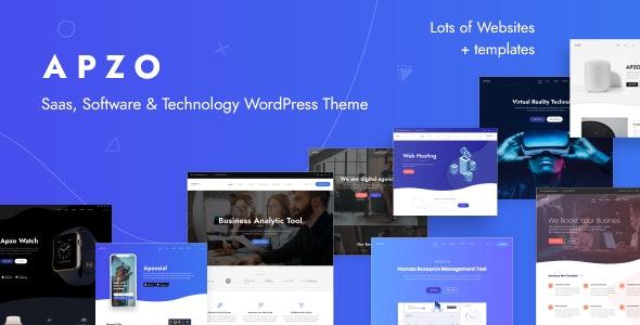Apzo - Startup Software Saas WordPress - Software Technology