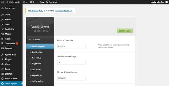 Hotel Master Booking WordPress