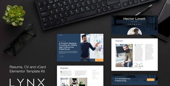Lynx - Resume and CV Elementor Template Kit