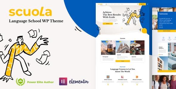 Scuola - Language School WordPress Elementor - Education WordPress
