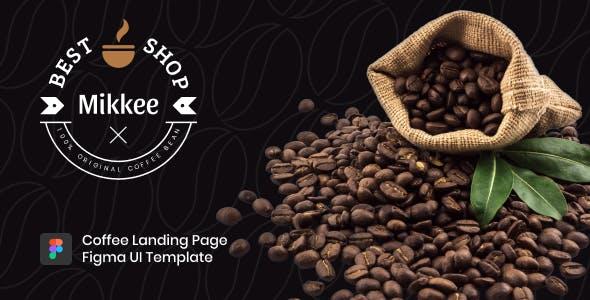 Mikkee - Coffee Landing Page Figma UI Template