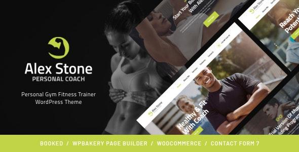 Alex Stone | Personal Gym Fitness Trainer WordPress Theme - Health & Beauty Retail