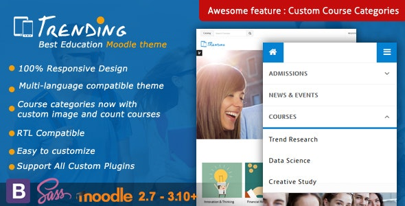 Trending - High Quality Responsive Moodle Theme - Moodle CMS Themes