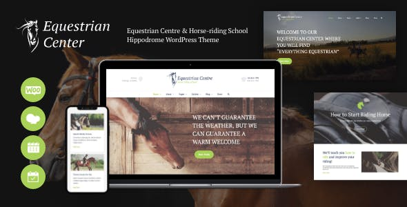 Equestrian Centre & Horse-riding School Hippodrome WordPress Theme