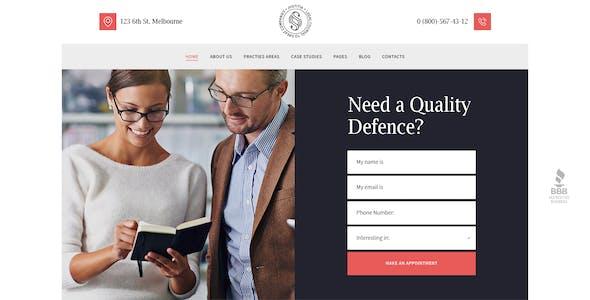 Justitia | Multiskin Lawyer & Legal Adviser WordPress Theme